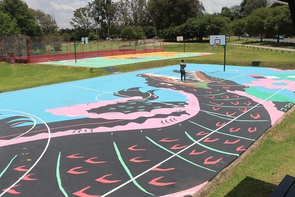 Zoo Lake basketball courts get a makeover