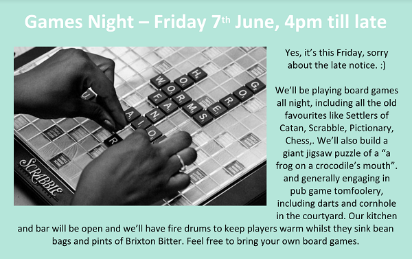 Games night at Breezeblock