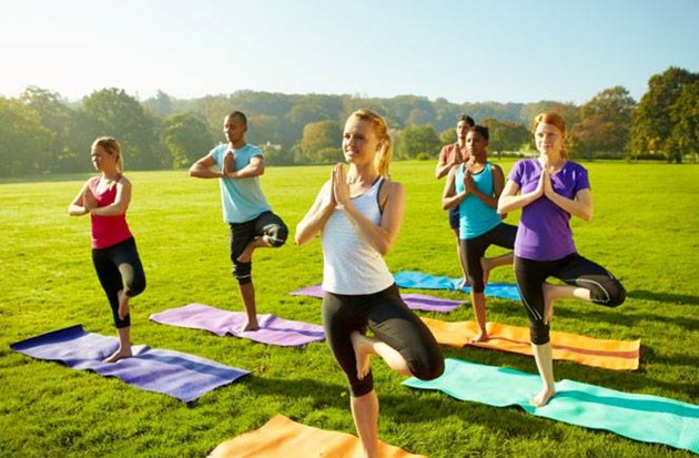 Beginner Yoga In The Park